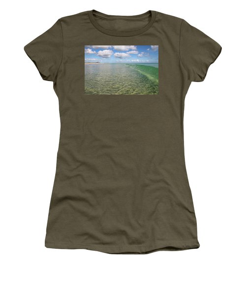 Ocean Waves And Clouds Rollin' By Women's T-Shirt (Athletic Fit)