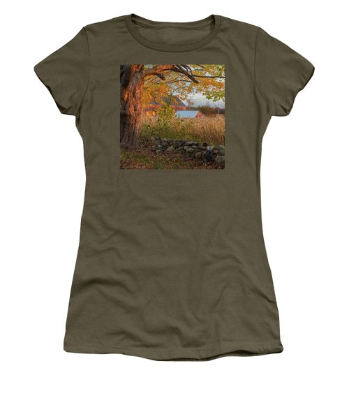Women's T-Shirt (Junior Cut) featuring the photograph October Morning 2016 Square by Bill Wakeley