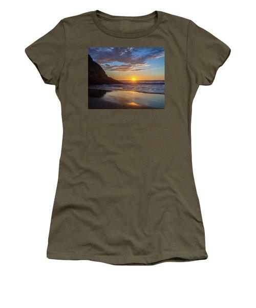 October Sunset Strands Beach Women's T-Shirt