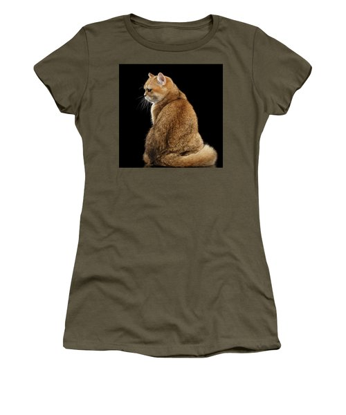 Women's T-Shirt featuring the photograph offended British cat Golden color by Sergey Taran