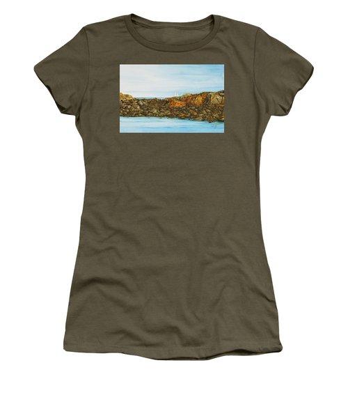 Ogunquit Maine Sail And Rocks Women's T-Shirt