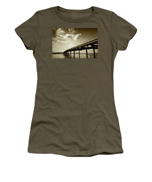 Oil Bridge II Women's T-Shirt (Junior Cut) by Joseph Westrupp