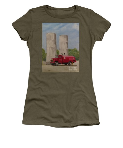 Oil Truck Women's T-Shirt (Athletic Fit)