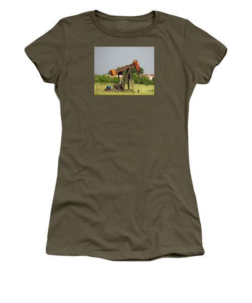 Oil Well 2 Women's T-Shirt (Athletic Fit)