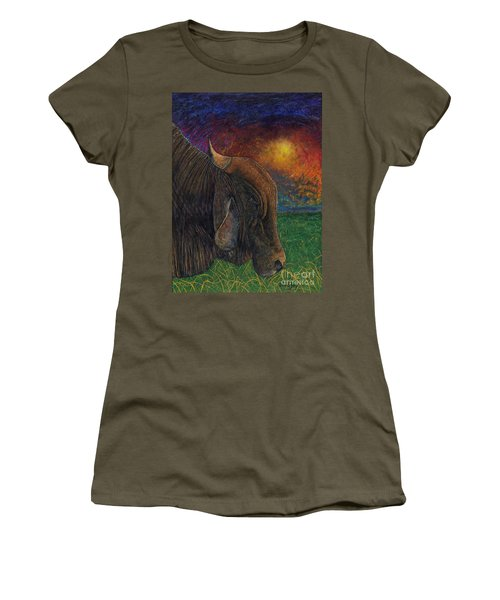 Okeechobee Brahman Women's T-Shirt (Athletic Fit)