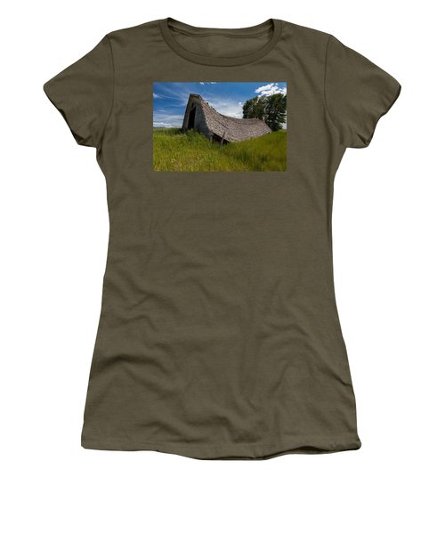 Women's T-Shirt (Athletic Fit) featuring the photograph Old And Sagging by Fran Riley