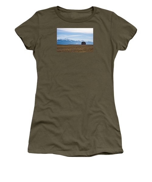Old Barn, Mission Mountains Women's T-Shirt