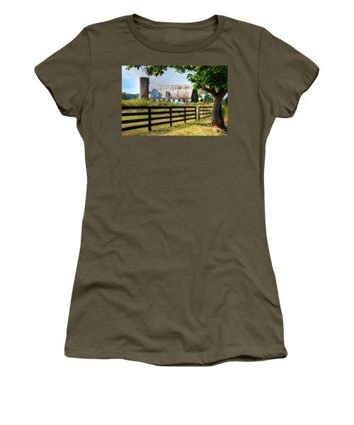 Old Barn Women's T-Shirt (Junior Cut) by Ronda Ryan