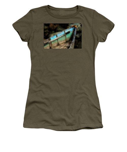 Old Boat 1 Stonington Maine Women's T-Shirt (Junior Cut)