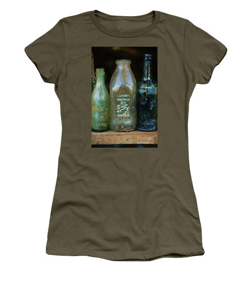 Women's T-Shirt (Junior Cut) featuring the photograph Old Bottles Hawaii by Craig Wood