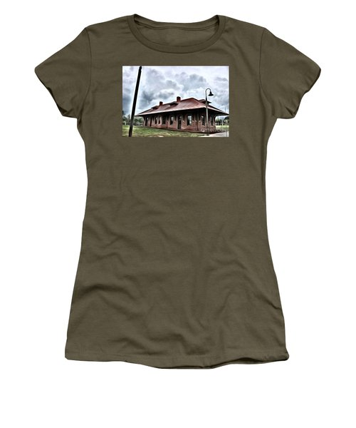 Old Burkeville Station Women's T-Shirt (Athletic Fit)