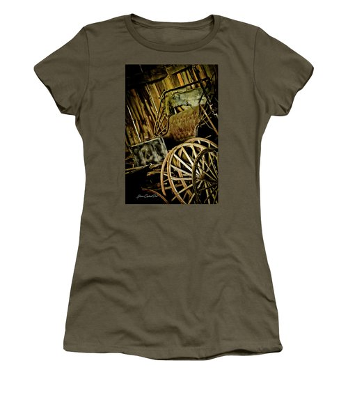 Women's T-Shirt (Junior Cut) featuring the photograph Old Carriage by Joann Copeland-Paul