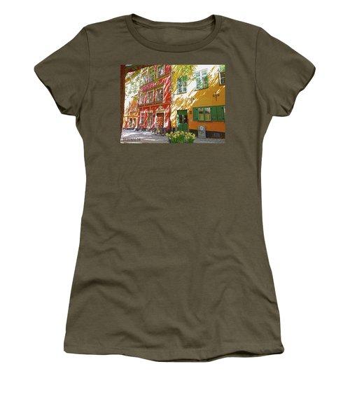 Old City Women's T-Shirt (Junior Cut) by Thomas M Pikolin