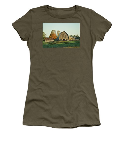 Old Country Barn_9302 Women's T-Shirt (Junior Cut) by Michael Peychich