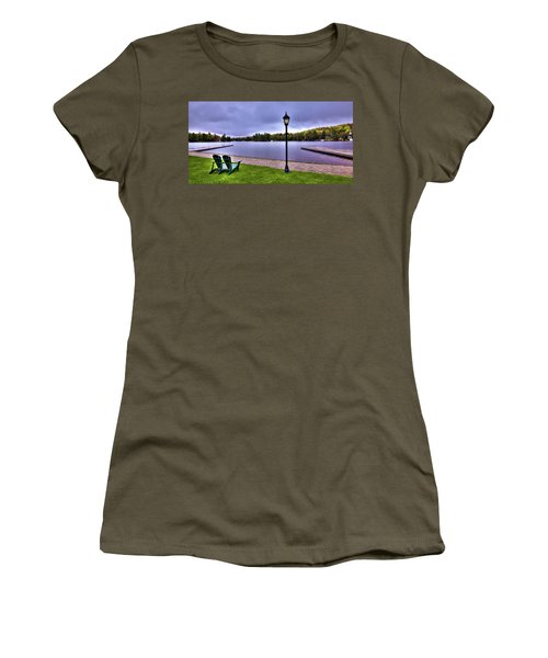 Old Forge Waterfront Women's T-Shirt (Junior Cut) by David Patterson