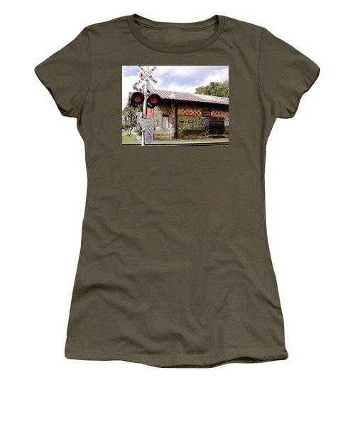 Old Freight Depot Perry Fl. Built In 1910 Women's T-Shirt (Athletic Fit)