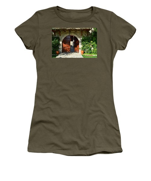 Old House Door Women's T-Shirt (Athletic Fit)