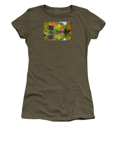Old Mill In The Fall  Women's T-Shirt (Junior Cut) by Emmanuel Panagiotakis