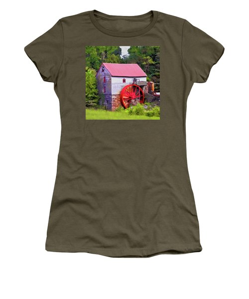 Old Mill Of Guilford Painted Square Women's T-Shirt (Athletic Fit)