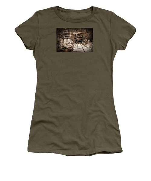 Old Mining Tracks Women's T-Shirt (Junior Cut) by Kirt Tisdale