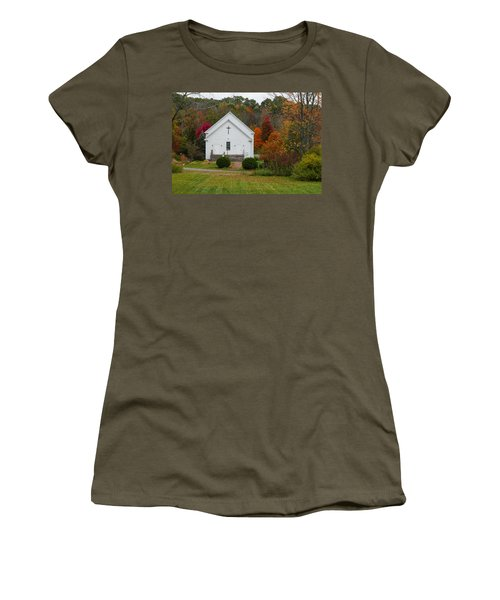 Old New England Church Women's T-Shirt (Athletic Fit)