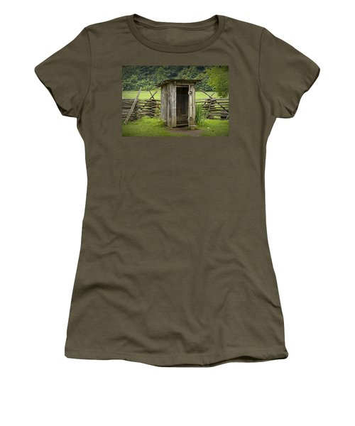 Old Outhouse On A Farm In The Smokey Mountains Women's T-Shirt