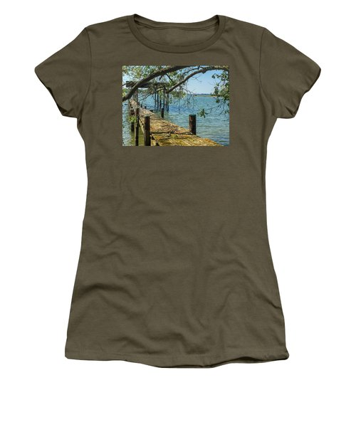 Old Pier On The Tred Avon Women's T-Shirt