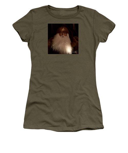 Old Saint Nick Women's T-Shirt (Junior Cut) by Patricia E Sundik
