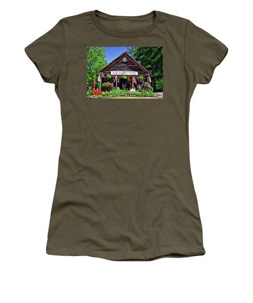 Old Sautee Store - Helen Ga 004 Women's T-Shirt (Junior Cut) by George Bostian