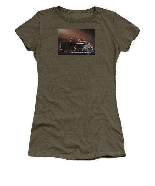 Old Sketched Pickup Women's T-Shirt (Junior Cut) by Jim Lepard