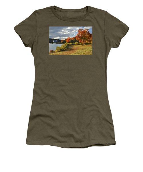 Old Stone Church Autumn Glow Women's T-Shirt