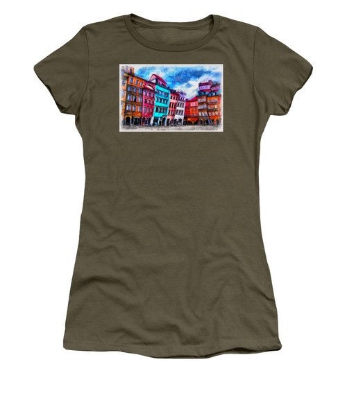 Old Town In Warsaw #11 Women's T-Shirt (Athletic Fit)