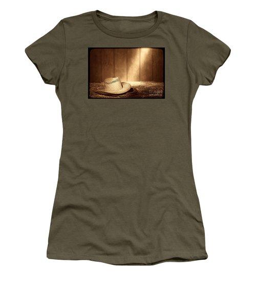 Old West Farmer Hat Women's T-Shirt