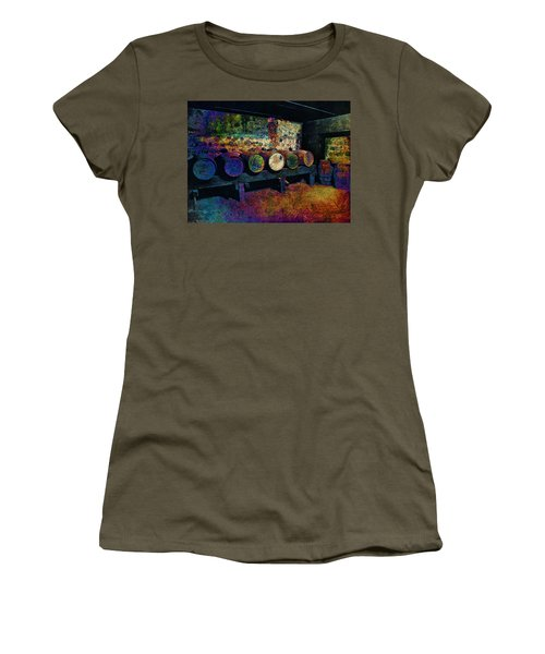 Women's T-Shirt (Junior Cut) featuring the digital art Old Wine Barrels by Glenn McCarthy Art and Photography