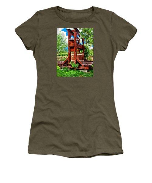 Old Wine Press Women's T-Shirt (Junior Cut) by Mariola Bitner