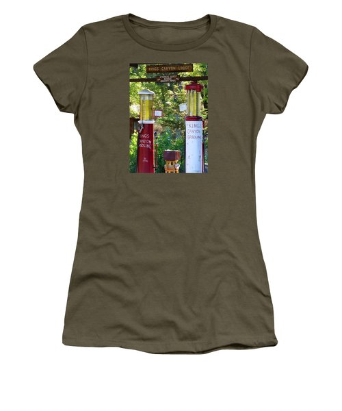 Oldest Dbl. Gravity Gas Pumps 1928 Women's T-Shirt (Athletic Fit)