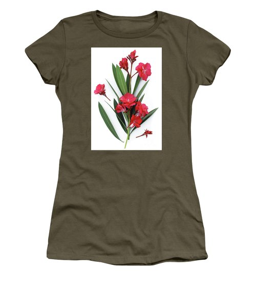 Women's T-Shirt (Junior Cut) featuring the photograph Oleander Geant Des Batailles 2 by Wilhelm Hufnagl