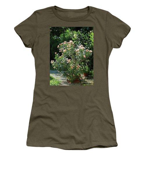 Oleander Petite Salmon 4 Women's T-Shirt (Junior Cut) by Wilhelm Hufnagl