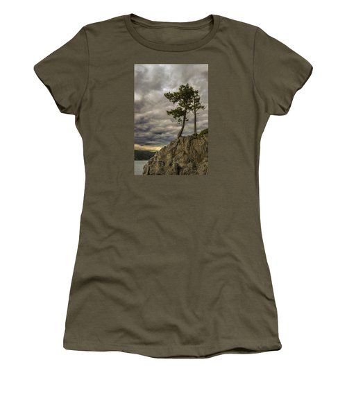 Ominous Weather Women's T-Shirt (Junior Cut) by Ed Clark