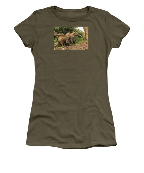 Women's T-Shirt (Junior Cut) featuring the photograph On The March by Gary Hall