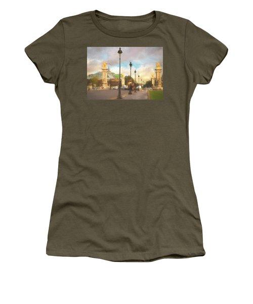 On The Pont Alexandre  Women's T-Shirt
