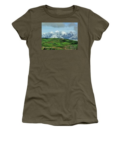 On The Road From Cusco To Urubamba Women's T-Shirt (Junior Cut) by Michele Penner