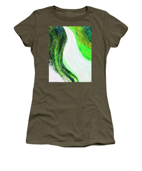 On The Road In Green Women's T-Shirt