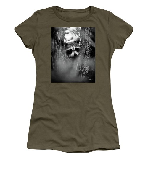 Women's T-Shirt featuring the photograph On Watch - Bw by Christopher Holmes