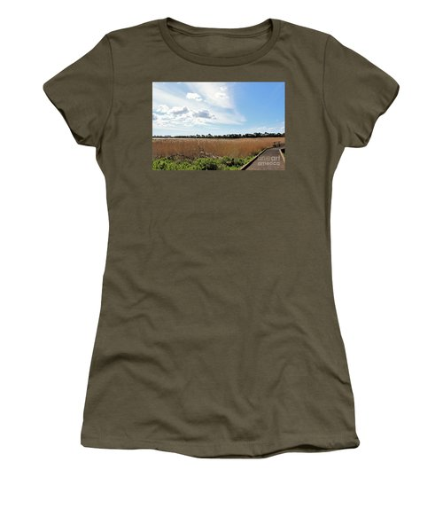 One Beautiful Day... Women's T-Shirt (Junior Cut) by Katy Mei