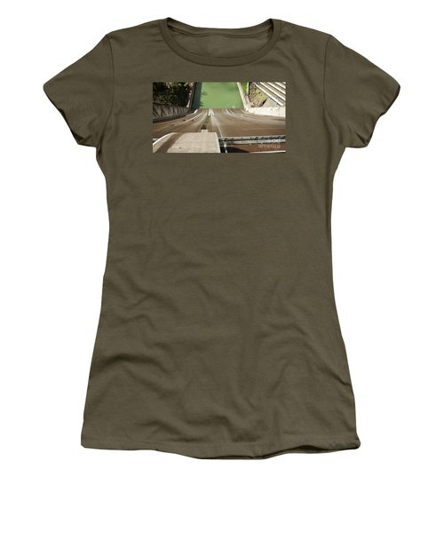 Women's T-Shirt (Athletic Fit) featuring the photograph One Heckuva Waterslide by Carol Lynn Coronios