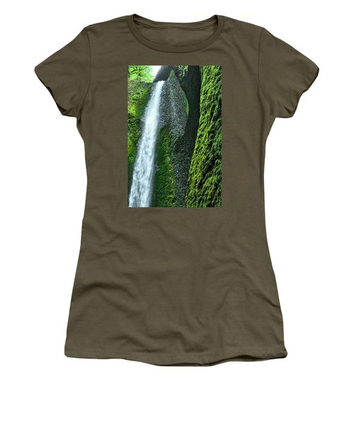 Oneonta Falls  Women's T-Shirt (Athletic Fit)