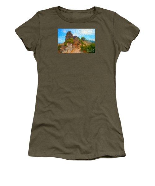 Opoul Castle Ruins Women's T-Shirt (Junior Cut) by Gerhardt Isringhaus