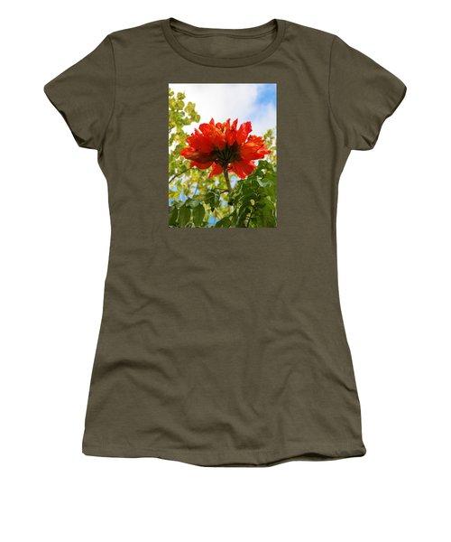 Orange Beauty Women's T-Shirt (Athletic Fit)