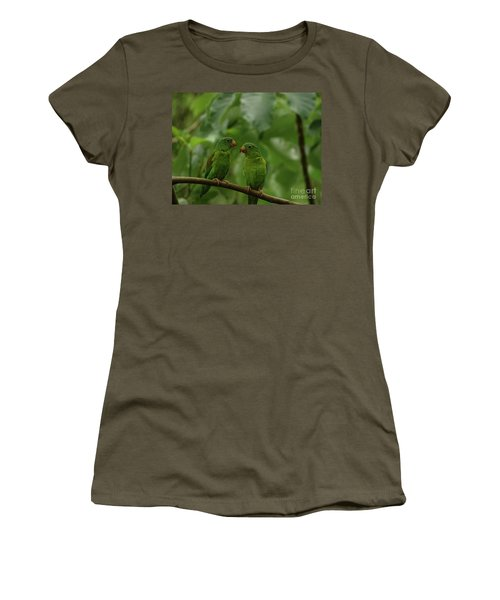 Orange-chinned Parakeets-  Women's T-Shirt